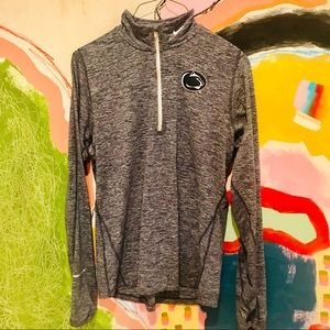 Heathered Penn State Nike DriFit Half Zip Pullover